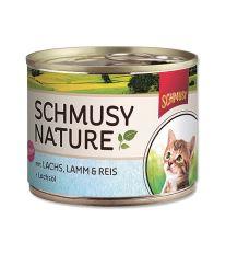 Schmusy Nature Menu Junior konzerva - losos & jahňa pre mačiatka 190 g