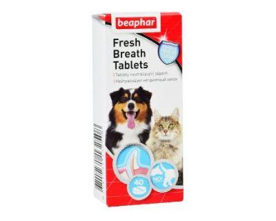 Beaphar Fresh Breath tablety s chlorofylom pre zdravé zuby a svieži dych 40 ks