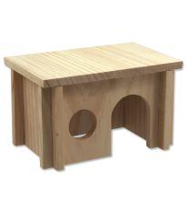 Domček SMALL ANIMAL drevený hladký 20 x 13 x 12 cm