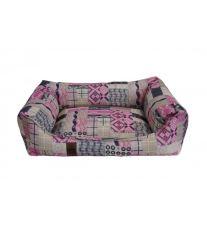 Pelech pre psa Argi obdĺžnikový - odnímateľný povlak z polyesteru - Rosie - 70 x 55 cm