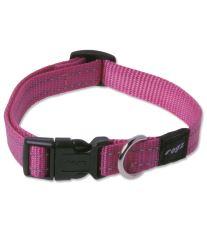 Obojok pre psa nylonový - Rogz Utility - růžový - 1,6 x 26 - 40 cm