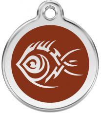 Red Dingo Známka hnedá vzor Tribal ryba