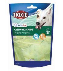 Trixie Dentafun Žuvacie chipsy z byvolej kože sa spirulou 50 g