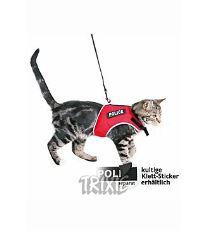 Postroj mačka vesta 24-42cm / 1,20m červená TR červená