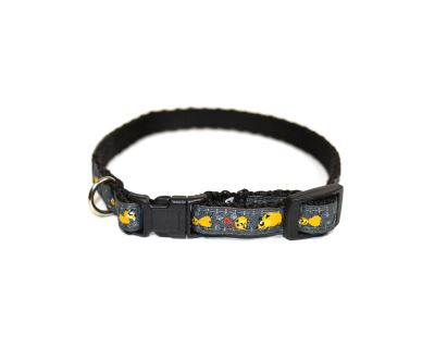 Obojek pro psa nylonový - černý se vzorem - 1 d4ca002ffe