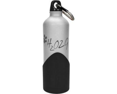 H2o2go Cestovné fľaša na vodu strieborná 750 ml