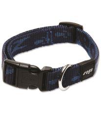 Obojek pre psa nylonový - Rogz Alpinist - modrý - 1,6 x 26 - 40 cm