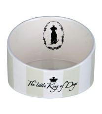 Miska keramická pes King of Dogs zkosená 1l 18cm TR