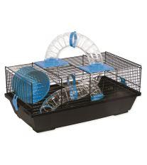 Klietka SMALL ANIMAL Libor čierna s modrou výbavou