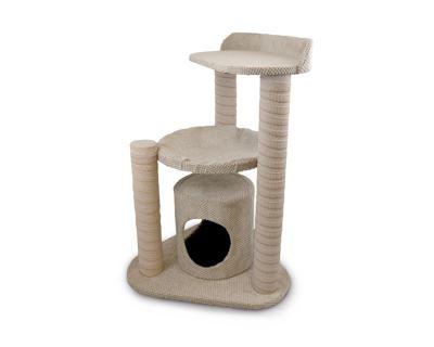 Škrabadlo pro kočky Argi - Zoe - béžové - 86 x 55 x 60 cm