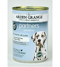 Arden Grange Partners Dog Sensitive - rybia konzerva pre citlivé trávenie 395 g