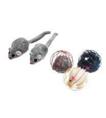 Hračka FLAMINGO loptička kovový s myšou
