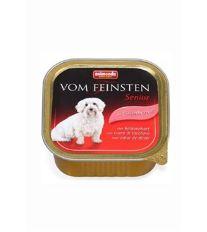 Animonda Vom Feinsten Senior Paštéta - morčacie srdiečka pre staršie psy 150 g