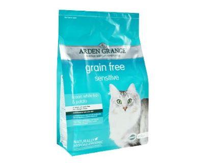 Arden Grange Cat Sensitiv Ocean Fish & Potato - morské ryby & zemiaky pre mačky s citlivým trávením 2 kg