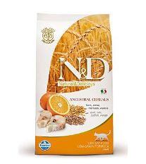 N&D Low Grain Cat Adult Codfish & Orange - treska a pomaranč s nízkym obsahom obilnín pre dospelé mačky