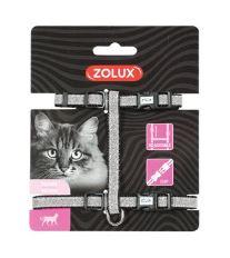 Postroj kočka SHINY nylon černý Zolux