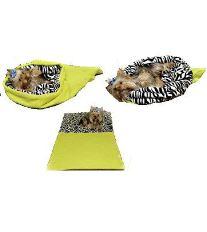 Marie Brožková MARYS Spací vak 3v1 XL pre psov a mačky svetlo zelený vzor zebra