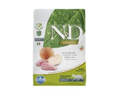 N&D Grain Free Cat Adult Boar & Apple - diviačie & jablko bezobilné pre dospelé mačky 300 g