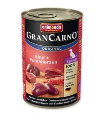 Animonda Gran Carno Senior Konzerva - kura & morčacie srdce