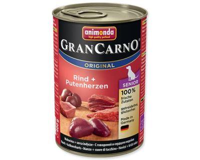 Animonda Gran Carno Senior Konzerva - kura & morčacie srdce 400 g