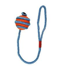 Hračka pes gumový míček oranžovo-modrý  5 cm