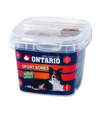 Ontario Snack Šport Bones - kostičky pre psy stredných plemien 100 g