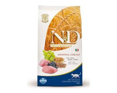 N&D Low Grain Cat Adult Lamb & Blueberry - jahňacie & čučoriedky s nízkym obsahom obilnín pre dospelé mačky 300 g