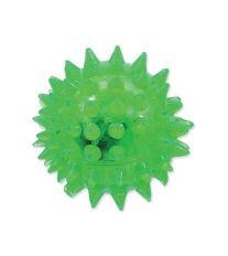 Hračka DOG FANTASY míček LED zelený 5 cm