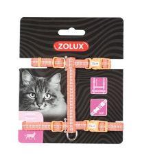 Postroj kočka TEMPO nylon oranžový Zolux