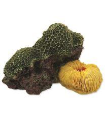 Dekorace AQUA EXCELLENT Mořský korál zelenožlutý 12,5 x 9,5 x 7,6 cm