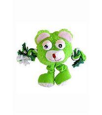 Hračka pes Monster Friend zelený plyš 21cm