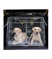Klietka do auta pre 2 psov kovová 93x68x79cm skosená TR