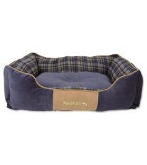 Scruffs Highland Box Bed Pelech modrý - veľkosť L, 75x60 cm