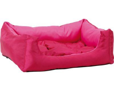 Pelech pre zvieratá Argi obdĺžnikový s vankúšom - růžový - 45 x 35 x 18 cm