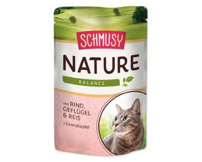 Schmusy Nature Menu kapsička - hovädzie & hydina 100 g