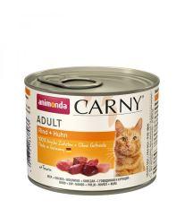 Animonda Carny Adult Konzerva - hovädzie & kuracie pre dospelé mačky