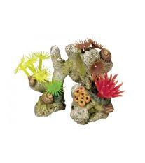 Dekorace do akvária - Korál barevný Nobby 11 x 7 x 8,5 cm