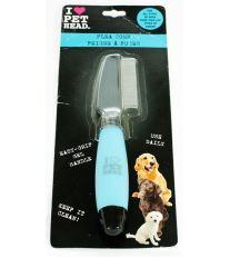 Hreben na blechy s gelovou rukojetí Pet Head 1 ks