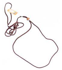 Vodítko nylon predvádecí - hnedé B&F 0,3 x 140 cm