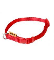 Obojek puppy nylon rozlišovací - cervený B&F 1,00 x 20-35 cm