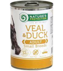 Nature's Protection Dog konz.Small telecí/kachna 400 g
